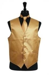 Gold vest and ties