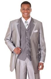 Silver Tuxedo Formal Looking