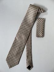 Tie Set Beige W/