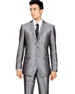 Slim Fit Grey Charcoal