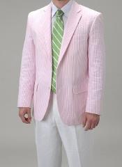 Pink Summer Seersucker Fabric