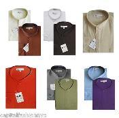 Dress Shirt Mandarin Collarless