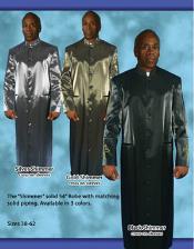 Banded Collar Suit SilverGoldBlack