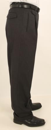 Leg Single Pleated Slacks
