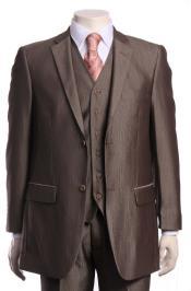 Regular Fit Vested Suit