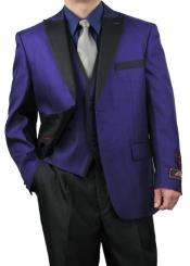 Purple and black suit