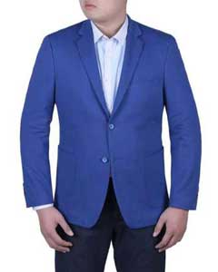 Royal blue slim fit suits