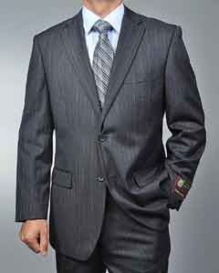 Charcoal Grey Pinstripe 2-button