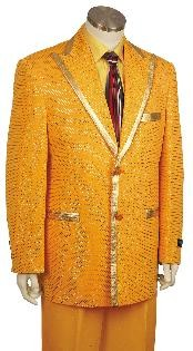 Fashionable Zoot Suit Gold