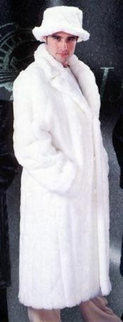 White Faux Mink Fur