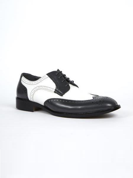 Grey White Dress Shoes
