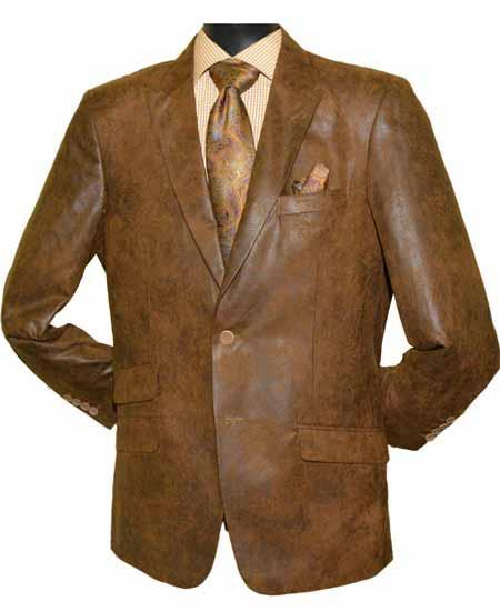 Brown Leather 2 Button