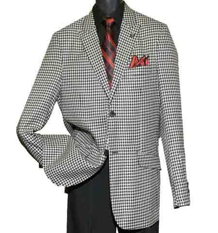 Houndstooth Black/White Single Breasted