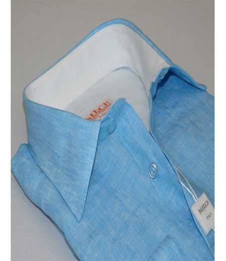 Mens Button Front Linen