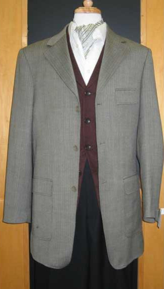 Lorenzo Bruno Classic Fit Charcoal Gray Basket Weave Two Button Blazer Sportcoat