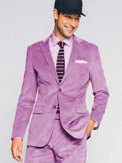 Mens 2 Button Lavender
