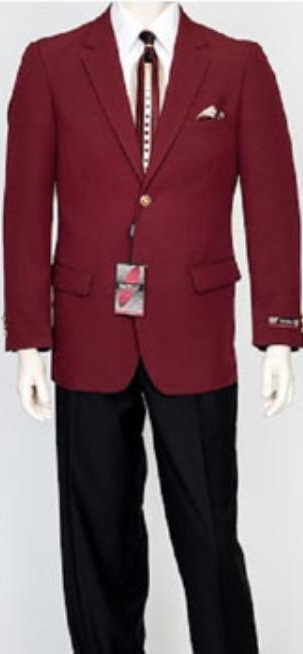 Mens Pacelli Classic Burgundy