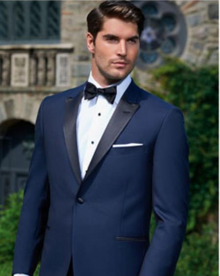 Evening Peak Navy 1-Button