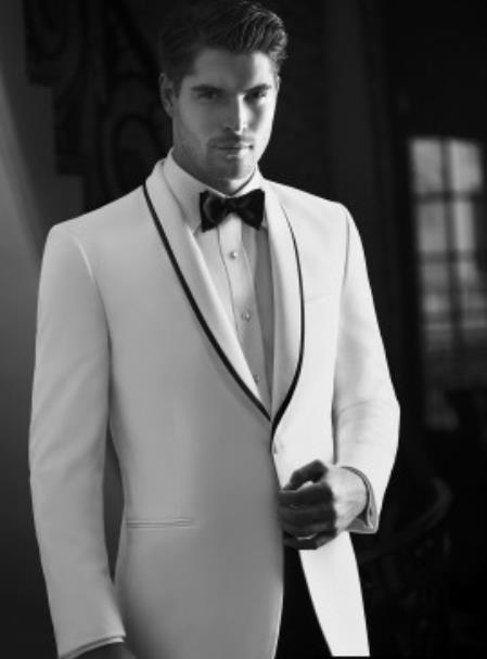 """Waverly"" White Tuxedo Jacket"