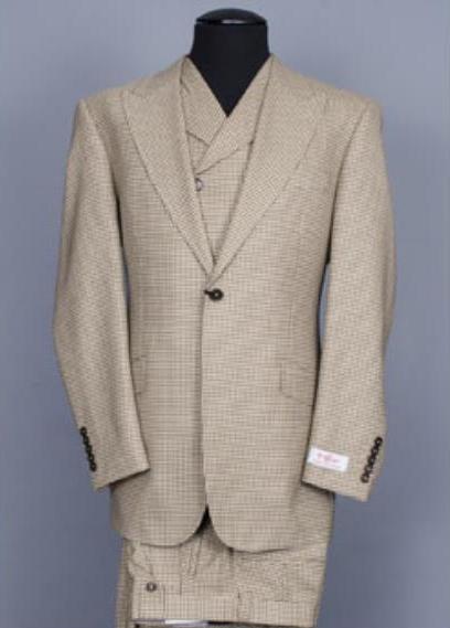 JSM-2661 Men's Tiglio Rosso San Giovesse Tan Suit&Vest