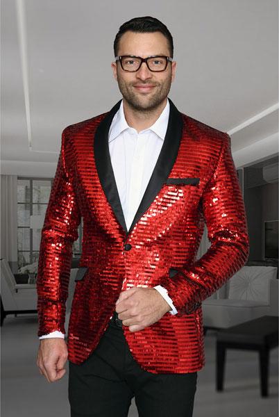 Mens Unique Shiny Fashion