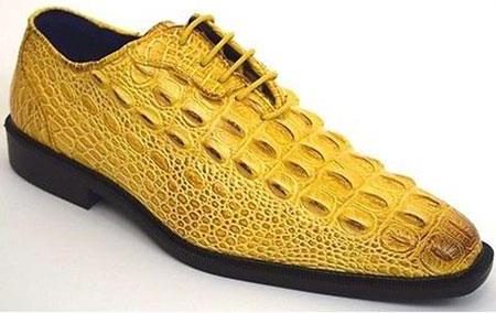 Mens Yellow Plain Toe