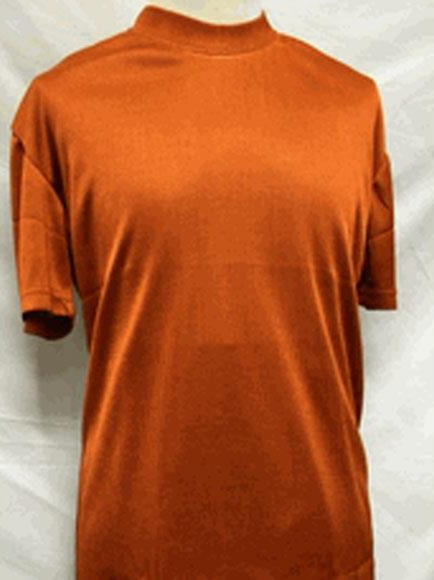 Mens Rust Stylish Mock
