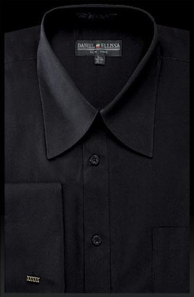 Mens Solid Black French