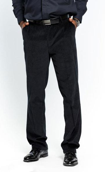 Mens Flat Front Corduroy
