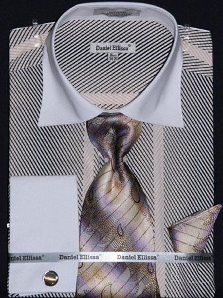Mens Stripe Two Tone