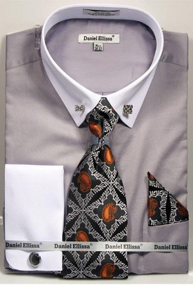 Mens Solid Pattern French