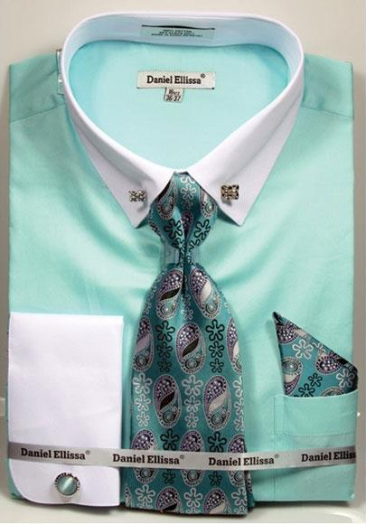 Mens Solid Mint Pattern