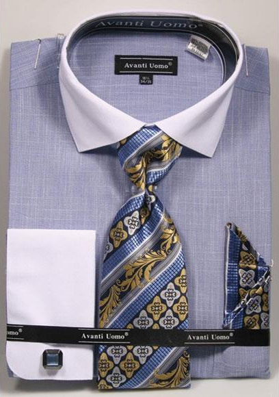 Mens Textured Pattern French