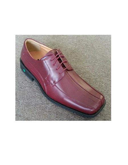 Mens Square Toe Leather