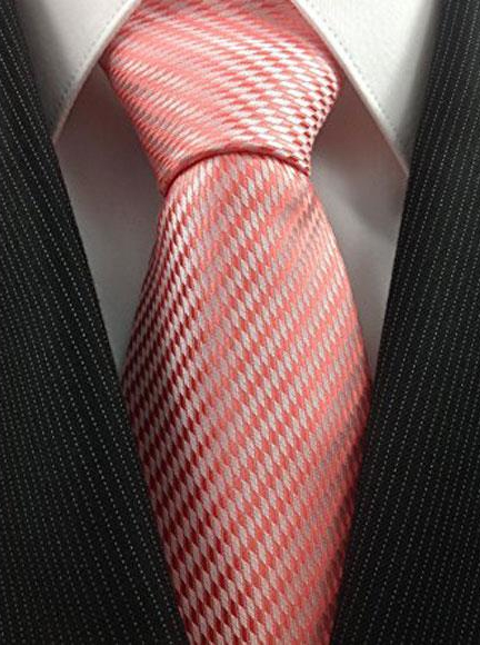 Mens Necktie Woven Coral
