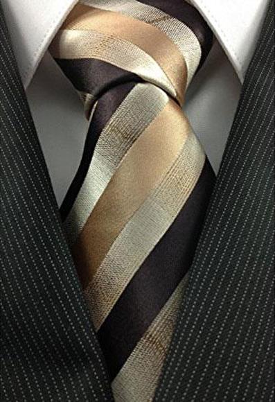 Mens Necktie Woven Natural
