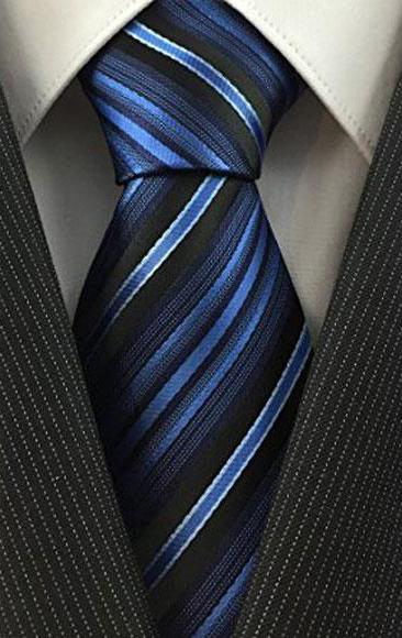 Mens Necktie Woven Pinstripe