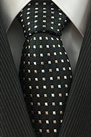 Mens Necktie Woven Accent