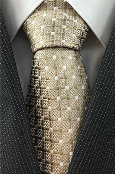 Mens Grid Pattern Necktie