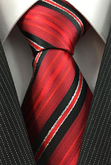 Mens Necktie Red Black