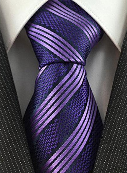Mens Necktie Textured Stripe