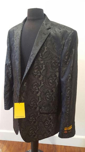 Floral Sportcoat ~ Paisley Jacket ~ Unique Shiny Fashion Prom~ Fashion Blazer For Men Black Dinner Jacket Tuxedo Looking  Perfect For Prom Clothe - Prom Outfits For Guys