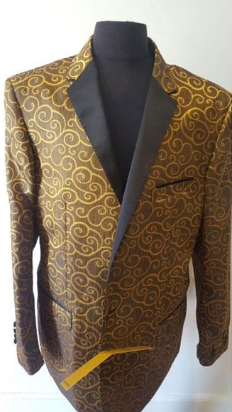 Product# JSM-4577 Floral Sportcoat ~ Paisley Jacket ~ Unique Shiny Fashion Prom~ Fashion Blazer For Men Khaki Dinner Jacket Tuxedo Looking