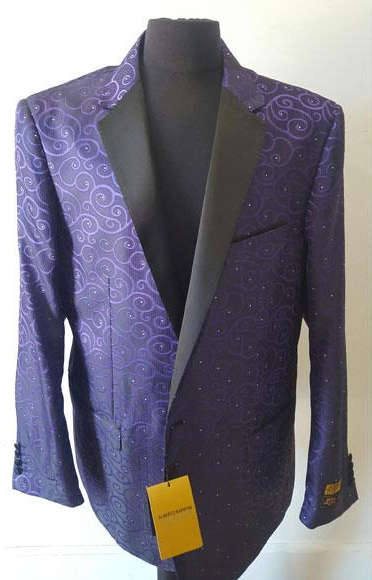 Product# JSM-4580 Floral Sportcoat ~ Paisley Jacket ~ Unique Shiny Fashion Prom~ Fashion Purple Blazer For Men Dinner Jacket Black and Purple Tuxedo Looking