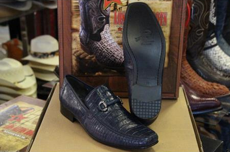 Genuine Navy Blue Crocodile