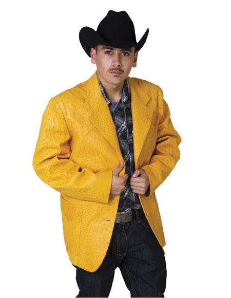 Mens Exotic Skin Yellow