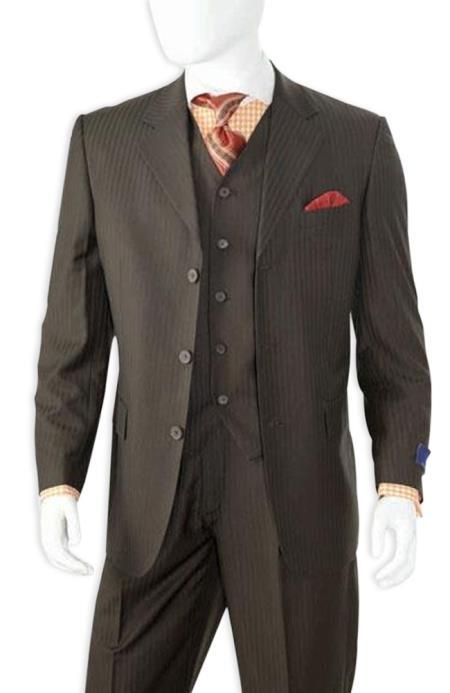 JSM-5066 Men's Alberto Nardoni Best Mens Italian Suits Brands Black Ton on Ton Shadow