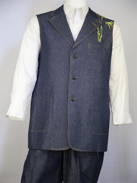 Mens Chinese Muse Embroidered