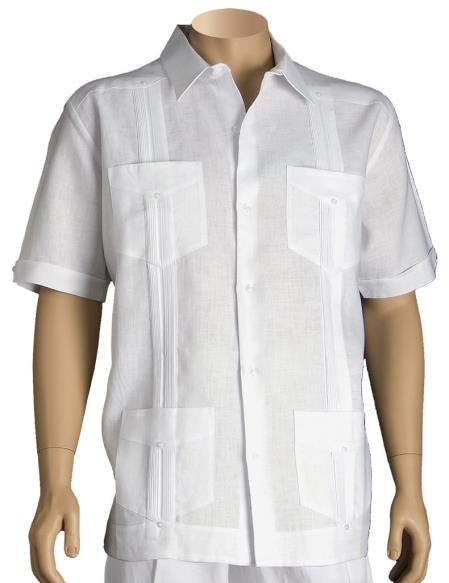 Inserch Mens Linen White