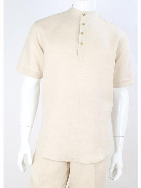 Mens Safari Short Sleeve
